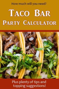 Pinterest Taco Bar Calculator